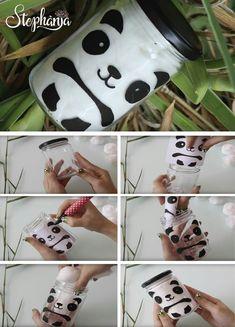 23 Clever DIY Christmas Decoration Ideas By Crafty Panda Panda Themed Party, Panda Birthday Party, Panda Party, Bear Party, Diy Panda, Panda Craft, Cute Panda, Jar Crafts, Diy And Crafts