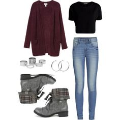 Maroon Sweater and Boots