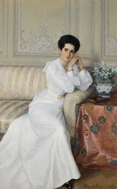 Portrait of Princess Gorchakova, 1903 by Nikolai Bogdanov- Belsky (Russian 1868–1945)