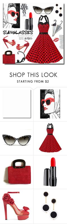 """Vintage Love: Retro Sunglasses"" by zouus ❤ liked on Polyvore featuring Oliver Gal Artist Co., Lancôme, Charlotte Olympia, Retrò, Kate Spade, vintage, polyvorecommunity, polyvorecontest, RetroSunglasses and polyvorefashion"