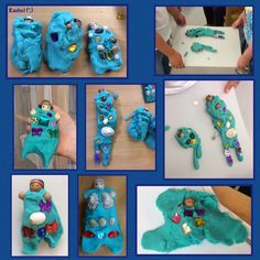"Mermaids and mermen with dough and loose parts - from Rachel ("",)"