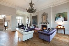 Leinster Gardens: it's a DREAM home - the architectural details, the high ceilings, the herringbone hardwood floors....