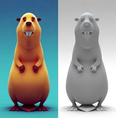 3D Characters by Sandro Tatinashvili, via Behance