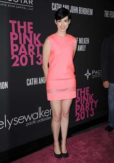 #AnneHathaway attends the 2013 Pink Party Benefiting The Cedars-Sinai Women's Cancer Program at #Hangar8 on October 19, 2013 in #SantaMonica, Calif.  -  Celebrity HotSpots®