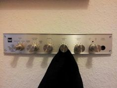 Old Sound Controls as a Coat Rack