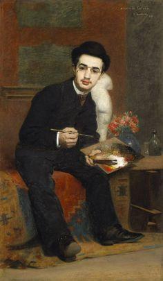 Henri RACHOU  (Toulouse, 1856 - Toulouse, 1944), Portrait du peintre Henri de Toulouse-Lautrec, 1883, Huile sur toile, Inv. RO 1020. Non exposée.  © Toulouse, musée des Augustins – Photo Daniel Martin