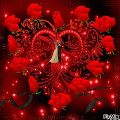the roses and heart animation gif I Love You Pictures, Beautiful Love Pictures, Beautiful Gif, Beautiful Roses, Gif Pictures, Beautiful Hijab, Love Heart Images, Beautiful Flowers Images, Love You Images