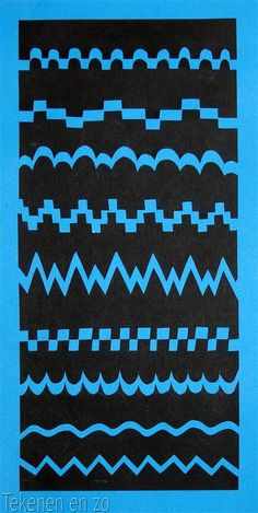 line and shape, positive and negative, inspires: cut paper/line/Navajo lesson?