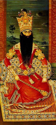 Nice beard. Mihr Ali, Qajar Painting, 1813-14