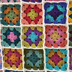 Baby blanket crochet afghan crochet granny por CrochetKaleidoscope