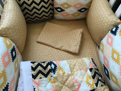 Hey, I found this really awesome Etsy listing at https://www.etsy.com/listing/292811765/gold-pink-black-baby-bedding-set-pillows