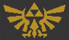 Legend of Zelda TriForce - Cross Stitch Pattern - Aida Counted Cross Stitch Patterns, Cross Stitch Embroidery, Chibi Spiderman, Iron Man Logo, Marvel Cross Stitch, I Need A Hobby, And So The Adventure Begins, Marvel Characters, Legend Of Zelda