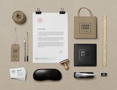 Free Stationary Corporate  Branding Mockups PSD