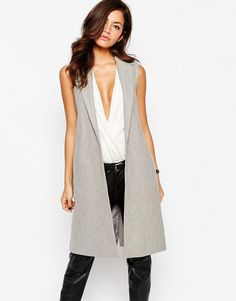 b96d3493d78eb3 New Look Belted Sleeveless Coat  52 Sleeveless Coat