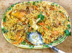 Chicken Plov from Uzbekistan: a delicious Uzbeki chicken and rice casserole with carrots onions and herbs