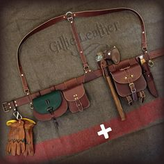 Bushcraft Belt Kit – By Gillie Leather – Manuel Rocker – – rickie french 363 – bushcraft camping Leather Rifle Sling, Leather Holster, Leather Belts, Diy Leather Quiver, Leather Jewelry, Bushcraft Gear, Bushcraft Camping, Bushcraft Skills, Leather Craft
