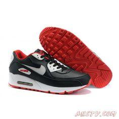 online retailer 76aab 4a7f1 Chaussures Air Max Femme Nike Air Max 90 retro Running Noir Rouge Blanc