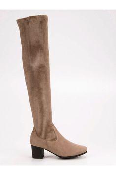 Béžové čižmy nad koleno VINCEZA STI17-8335BE Rubber Rain Boots, Platform, Wedges, Shoes, Fashion, Wedge, Zapatos, Moda, Shoes Outlet