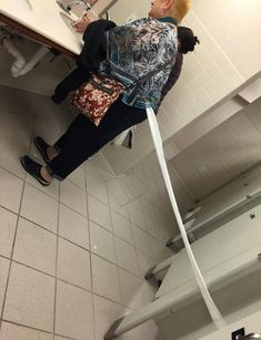 This woman's toilet paper odyssey:   26 Pictures That Will Make You Have To Laugh To Keep From Crying