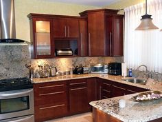 Small Kitchen Remodels Design Ideas Pictures Remodel And Decor Page 2 For The Home Pinterest Stove Wood Cabinets And Small Kitchens