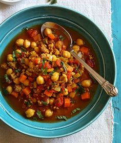 Slow cooker moroccan chickpea and turkey stew