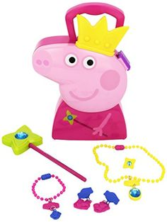 Peppa Pig Princess Jewelry Case Playset Toy For Girls Baby Girl Toys, Toys For Girls, Kids Toys, Doll Clothes Barbie, Barbie Dolls, Barbie Chelsea Doll, Disney Princess Toys, Big Stuffed Animal, Minnie Mouse Toys