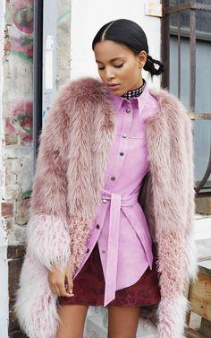 ASOS autumn/winter 2015 lookbook pink suede jacket