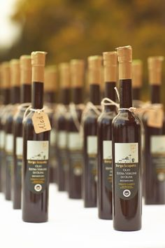 A Little Bottle of Tuscan Oil as a Gift for the Guests