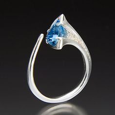 Ring - Sterling Silver, Blue Topaz