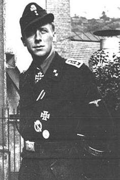 SS-Oberscharfuhrer Ernst Barkmann, WWII German panzer crewman. Knights Cross earned.