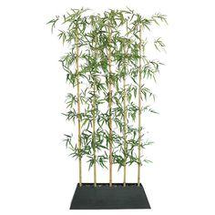 Tall Silk Bamboo Tree Screen with Contemporary Wood Planter Laura Ashley 8 ft. Artificial Garden Plants, Artificial Plant Wall, Fake Plants, Artificial Flowers, Indoor Plants, Patio Plants, Indoor Outdoor, Cool Ideas, Diy Ideas