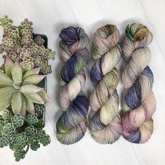 Practically Magic on my Double Decker BFL sock base! I just love the way this base takes color! . . . #lesstraveledyarn #travelingyarn #yarnlove #yarnaddict #knittersofinstagram #knitstagram #knitting #crochet #crochetlove #indiedyedyarn #indiedyer #handdyedyarn