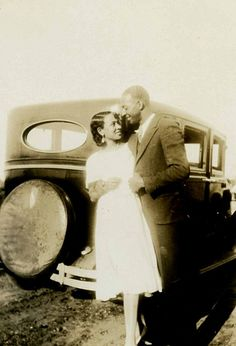 Love the look of adoration in each of their eyes. #vintage #couple #car #love #1920s #twenties #1930s