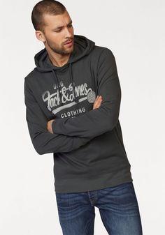 Jack & Jones Kapuzensweatshirt »Jormood Sweat Hood« für 29,99€. Leichtes Sweatshirt mit großem Frontprint, Weicher Materialmix für angenehmes Tragegefühl bei OTTO