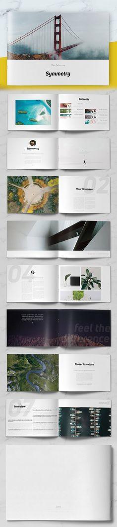 Minimal Portfolio Brochure Template #brochuretemplate #catalogdesign #booklet #annualreport #printdesign #psdtemplate