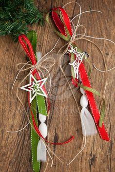 Χριστουγεννιάτικη κρεμαστή μπομπονιέρα για γάμο ή βάπτιση με διακοσμητικό…