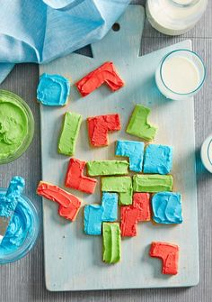 Puzzle Biscuits - the perfect after school snack! Recipe from Better Homes & Gardens.