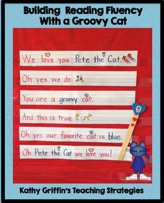 Pete the Cat Pocket Chart Activity via Kathy Griffin's Teaching Strategies #preschool #kindergarten #groovycatweek