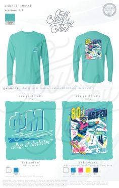 Phi Mu | College of Charleston | 80s Skiing Theme | Winter Retreat | Ski Trip | South by Sea | Greek Tee Shirts | Greek Tank Tops | Custom Apparel Design | Custom Greek Apparel | Sorority Tee Shirts | Sorority Tanks | Sorority Shirt Designs