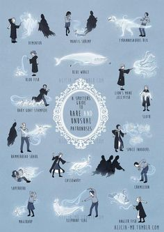 Your Guide To Some Hilarious, Lesser-Known Harry Potter Patronuses... mine's the sloth, i know it. :D