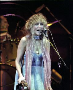 beautiful Stevie onstage, dressed in pastels  ~ ☆♥❤♥☆ ~    August 28th, 1979, at a concert inBirmingham, AL; photo by William E. Allen