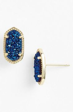 Kendra Scott 'Ellie' Oval Stud Earrings available at #Nordstrom... In the gunmetal color