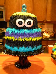 A monster cake for Nick's birthday!