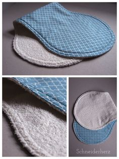 Spucktuch aus Handtuch und Stoffrest / Burb cloth made from towel and scraps of fabric / Upcycling