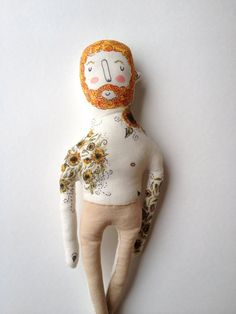 Vincent Van Gogh Starry Night Tattoo Doll by BlueRaspberry