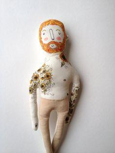 Vincent Van Gogh - muñeca de arte girasoles con la manga del tatuaje - felpa…