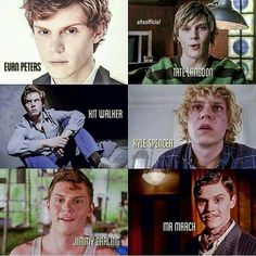 Evan Peters, Tate Langdon, Kit Walker, Kyle Spencer, Jimmy Darling, Mr. March <3