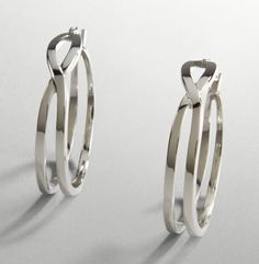 Silver Crossover Hoops - Kenneth Cole #GetGraphic @Kenneth Cole Productions