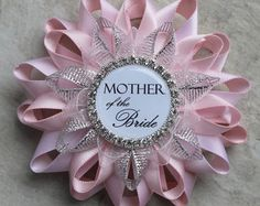 Bridal Shower Corsage Pin Mother of the Groom by PetalPerceptions