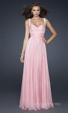 A-Line Chiffon Sweetheart Long Dress Charm87908
